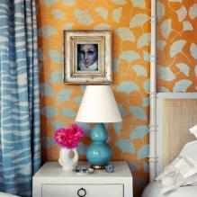 Обои оранжевого цвета: виды, дизайн и рисунки, оттенки, сочетания, фото в интерьере-8