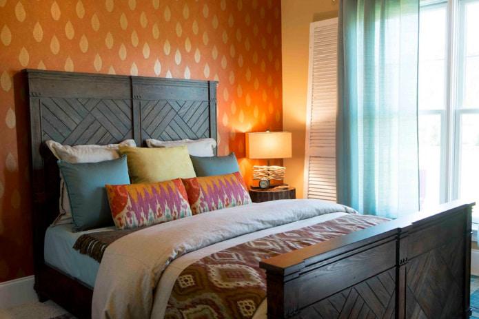 Обои оранжевого цвета: виды, дизайн и рисунки, оттенки, сочетания, фото в интерьере