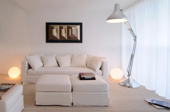 Белый диван в интерьере: 70 современных фото и идей дизайна