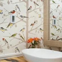 Оформление стен обоями с птицами: 60 современных фото и идей-0
