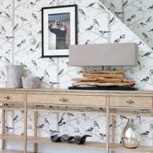 Оформление стен обоями с птицами: 60 современных фото и идей-1
