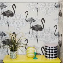 Оформление стен обоями с птицами: 60 современных фото и идей-3