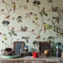 Оформление стен обоями с птицами: 60 современных фото и идей-13