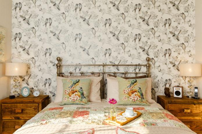 Оформление стен обоями с птицами: 59 современных фото и идей