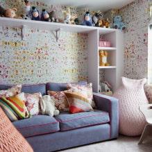 Обои в детскую комнату для девочек: 68 современных идей, фото в интерьере-3