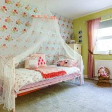 Обои в детскую комнату для девочек: 68 современных идей, фото в интерьере-5