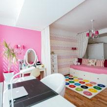 Обои в детскую комнату для девочек: 68 современных идей, фото в интерьере-7