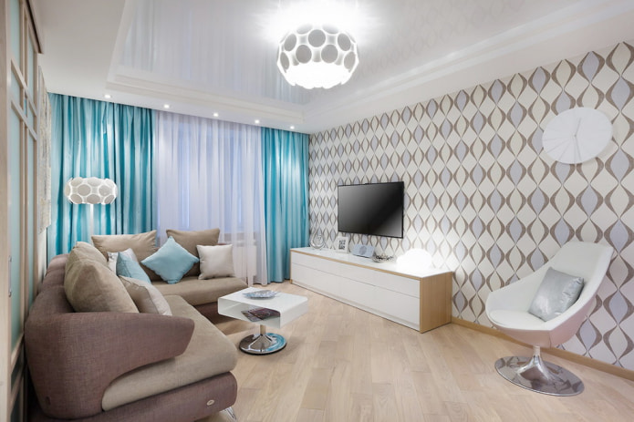 Потолок белого цвета: виды, дизайн, фото, сочетание с обоями и полом