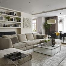 Бежевый диван в интерьере: 70+ современных фото и идей оформления-1