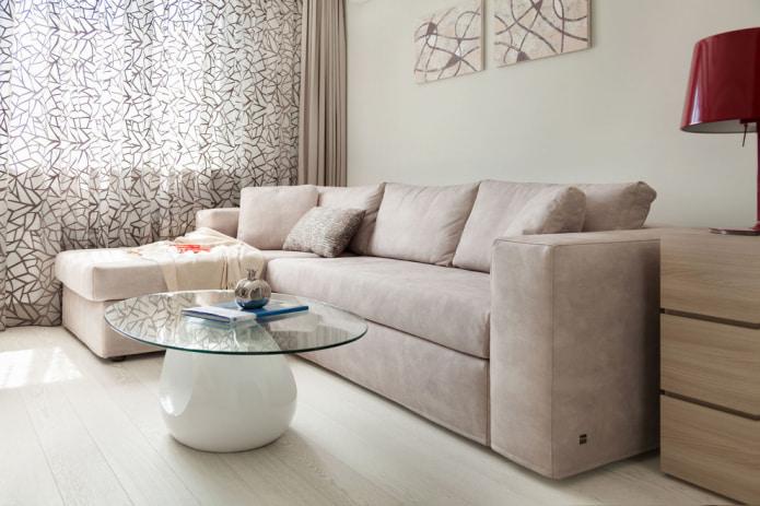 Бежевый диван в интерьере: 70+ современных фото и идей оформления