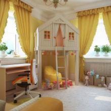 Желтые шторы в интерьере: виды, ткани, цвет, дизайн, декор, сочетание с цветом обоев-0