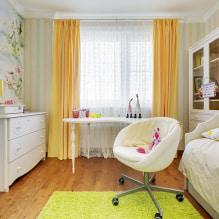 Желтые шторы в интерьере: виды, ткани, цвет, дизайн, декор, сочетание с цветом обоев-1