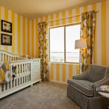 Желтые шторы в интерьере: виды, ткани, цвет, дизайн, декор, сочетание с цветом обоев-3