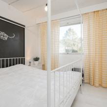 Желтые шторы в интерьере: виды, ткани, цвет, дизайн, декор, сочетание с цветом обоев-4