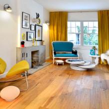 Желтые шторы в интерьере: виды, ткани, цвет, дизайн, декор, сочетание с цветом обоев-5