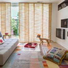 Желтые шторы в интерьере: виды, ткани, цвет, дизайн, декор, сочетание с цветом обоев-7