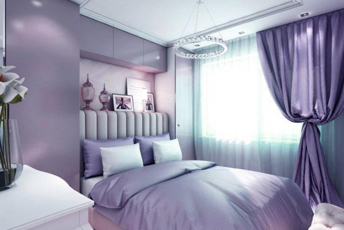 Как смотрятся сиреневые шторы в интерьере?