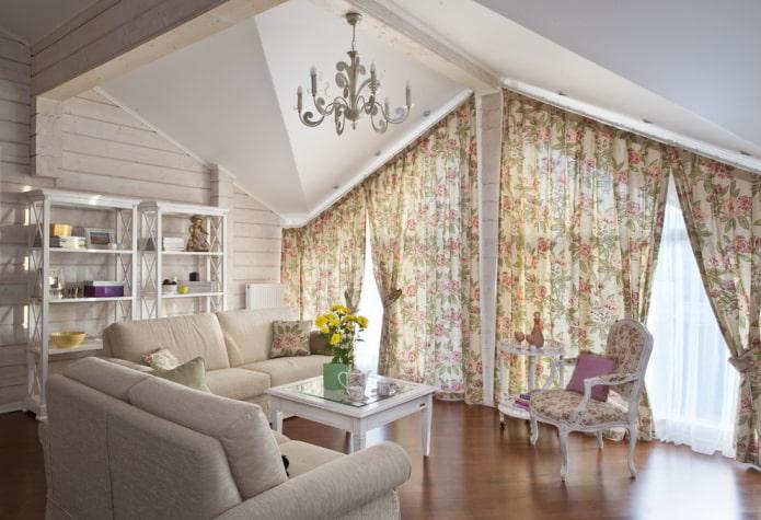Шторы в стиле прованс: виды, материалы, дизайн занавесок, цвет, комбинирование, декор