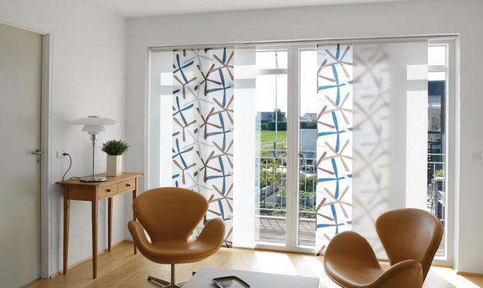 Японские шторы – лучшие идеи оформления интерьера