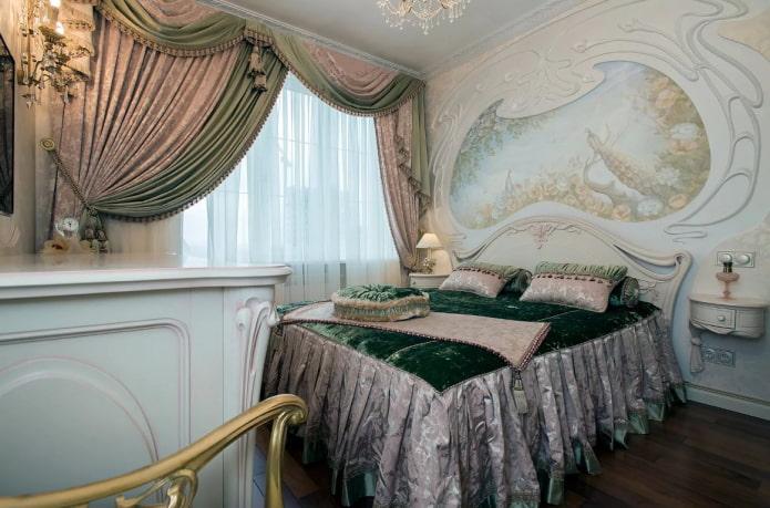 Ламбрекены для спальни: виды, формы драпировки, выбор ткани, дизайна, цвета