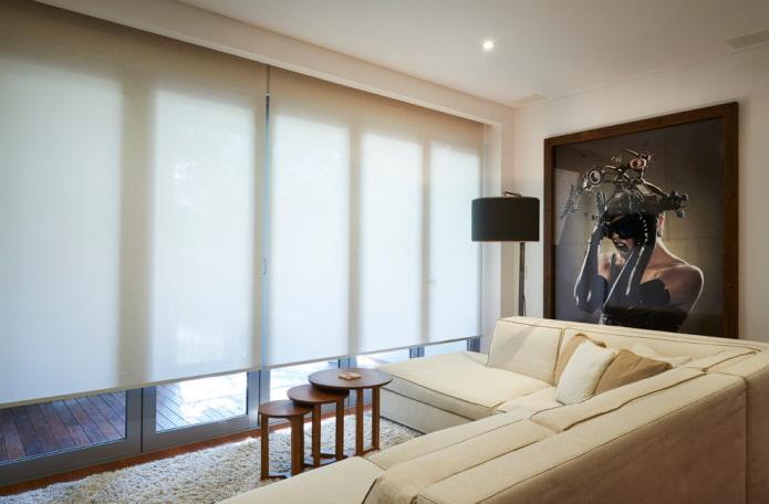 Как выбрать рулонные шторы: конструкция, виды, материалы, дизайн, цвет, комбинирование