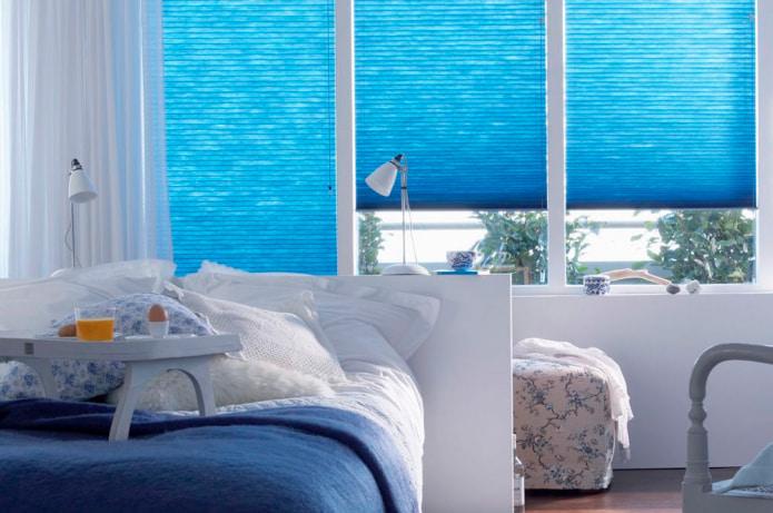 Жалюзи в спальню: особенности оформления, виды, материалы, цвет, сочетания, фото