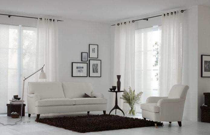 Декор окон шторами на люверсах: виды, материалы, выбор ткани для занавесок