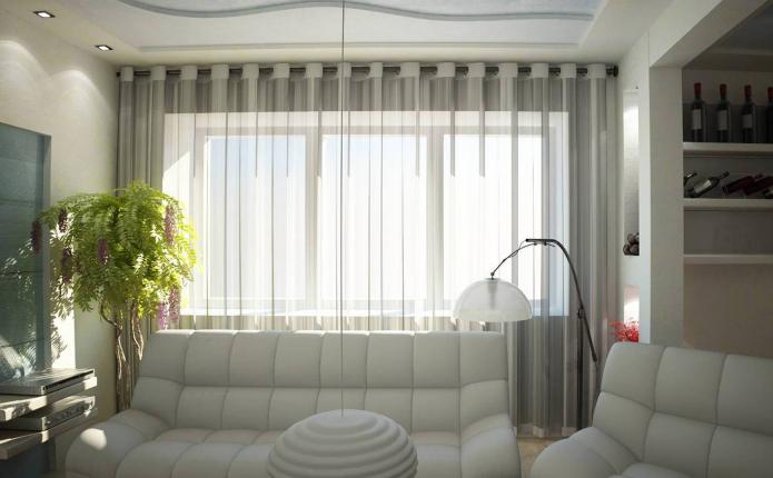 Тюль на люверсах: виды, выбор ткани, цвета, идеи дизайна, комбинирование, фото