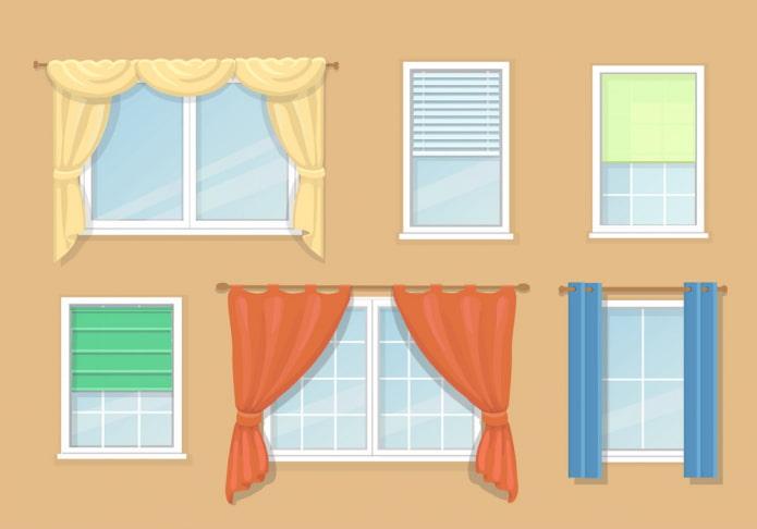 Виды штор для окон: классификация с описанием, варианты по типу, материалу гардин и портьер