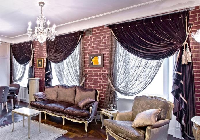 Итальянские шторы на окнах: особенности, виды, ткани, цвет, дизайн, декорирование