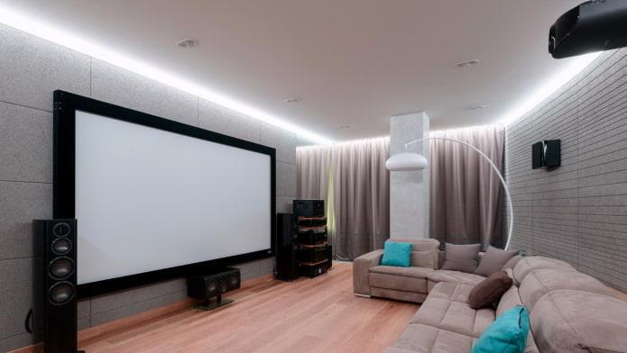 Парящий натяжной потолок: виды по конструкции, форме, материалу, дизайн, цвет, фото в интерьере