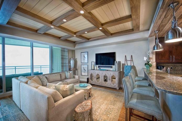 Кессонный потолок 47 фото что это кессоны из массива дерева гипсокартона и полиуретана своими руками