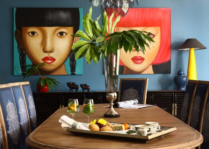Картины в интерьере: виды, тематика, советы по выбору формы и размера, расположение
