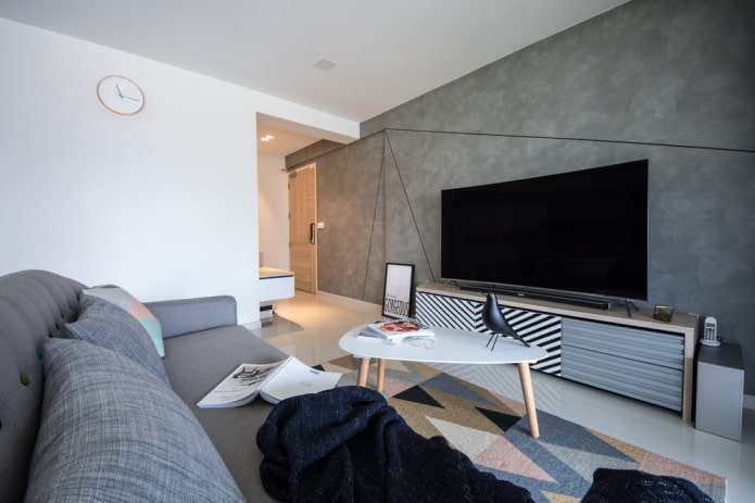 Телевизор в гостиной: фото, выбор места расположения, варианты дизайна стены в зале вокруг ТВ
