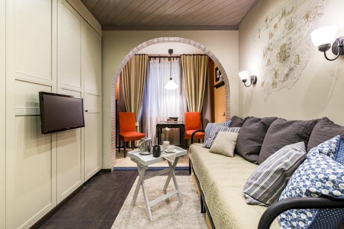 Арка в гостиную (зал): виды, материалы, дизайн, расположение