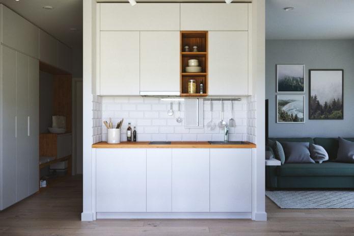 Кухня-ниша в квартире: дизайн, формы и расположение, цвет, варианты освещения