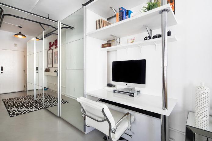 Компьютерный стол: фото, виды, материалы, формы, цвет, дизайн, выбор места размещения