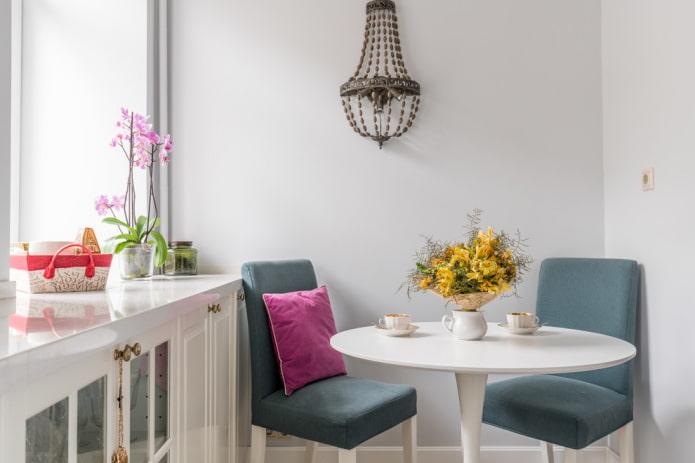 Круглые столы для кухни: фото, виды, материалы, цвет, варианты расположения, дизайн