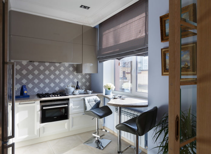 Обеденный стол для маленькой кухни: виды, дизайн, формы, расположение в комнате