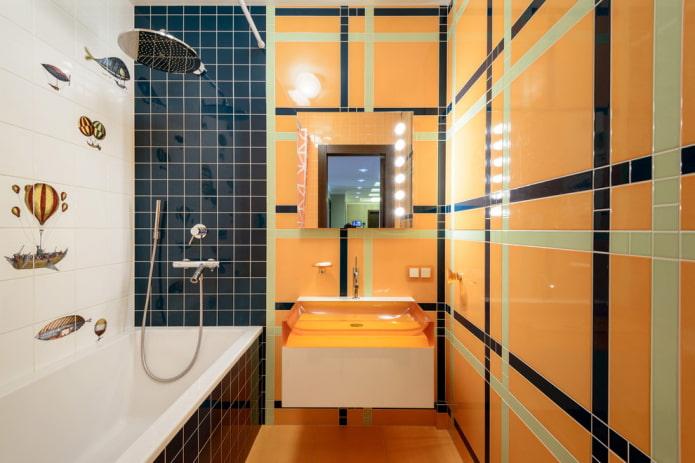 Раскладка плитки в ванной: правила и способы, цветовые особенности, идеи для пола и стен