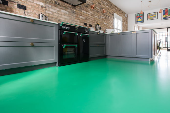 Линолеум на кухню: советы по выбору, дизайн, виды, цветовая гамма