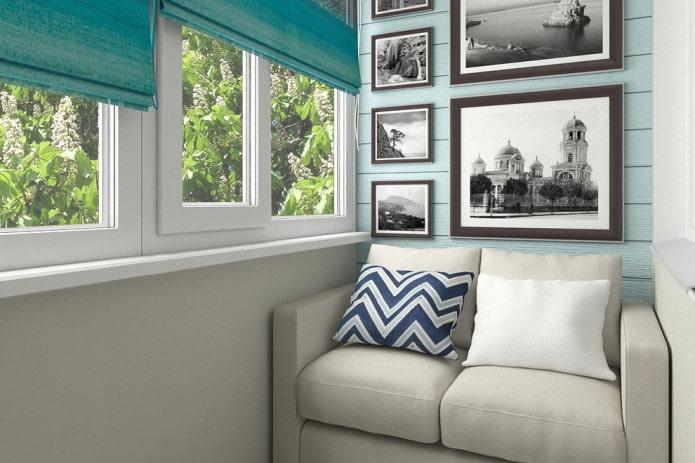 Диван на балкон или лоджию: виды, дизайн, формы, варианты размещения