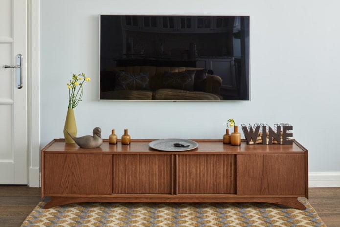 Тумба под телевизор: виды, выбор формы, материала, цветовое оформление, дизайн