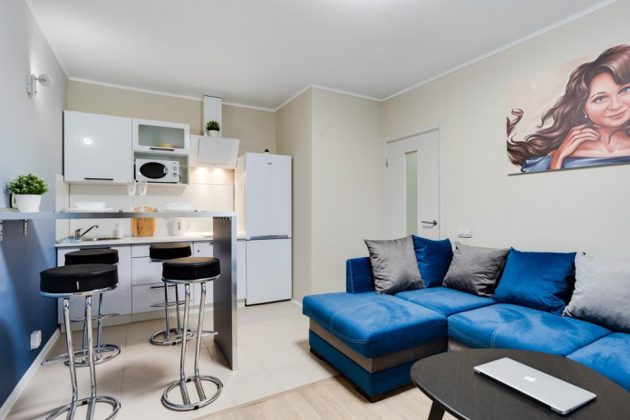 Дизайн маленькой квартиры-студии 22 кв. м. – фото интерьера, примеры ремонта