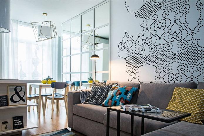 Дизайн квартиры 42 кв. м. – фото, зонирование, идеи обустройства