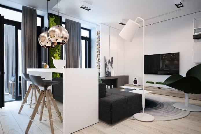 Дизайн квартиры 45 кв. м. – идеи обустройства, фото в интерьере