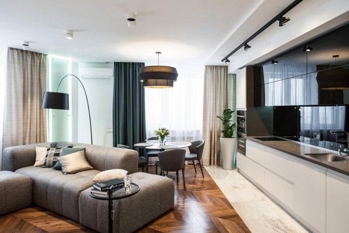 Дизайн квартиры 60 кв. м. – идеи обустройства 1,2,3,4-х комнатных и студий
