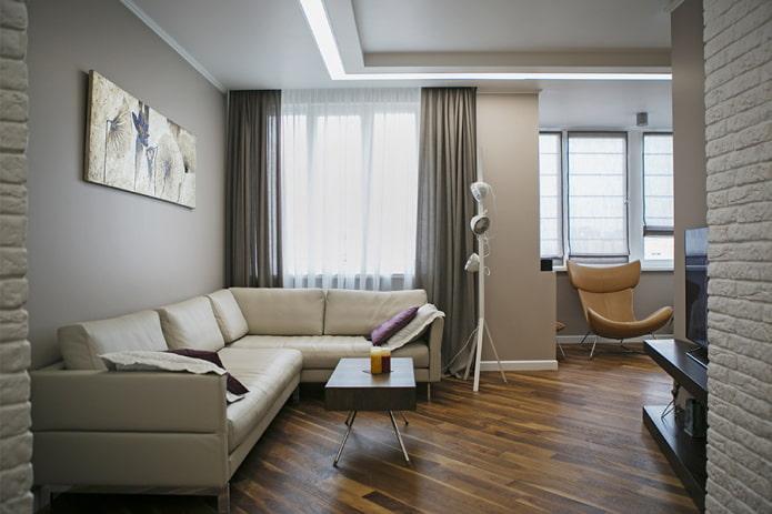 Дизайн квартиры 70 кв. м. – идеи обустройства, фото в интерьере комнат