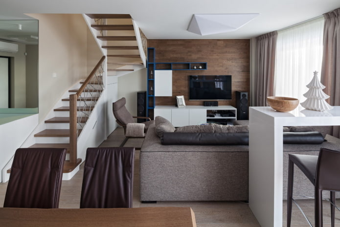 Двухуровневые квартиры: планировки, идеи обустройства, стили, дизайн лестниц