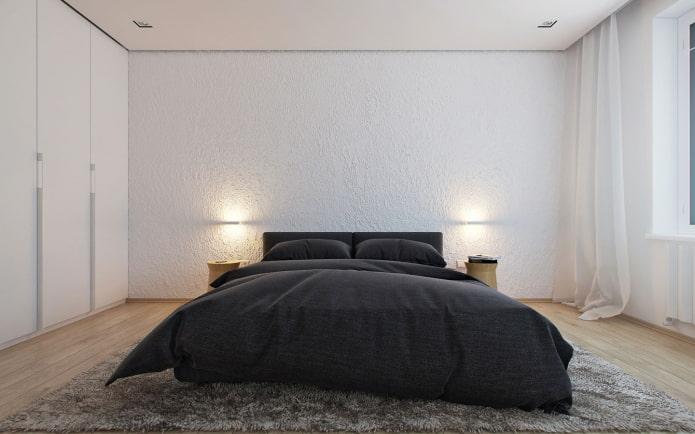 Спальня в стиле Минимализм 78 фото дизайн интерьера серой и белой спальни уютные современные комнаты минимального размера